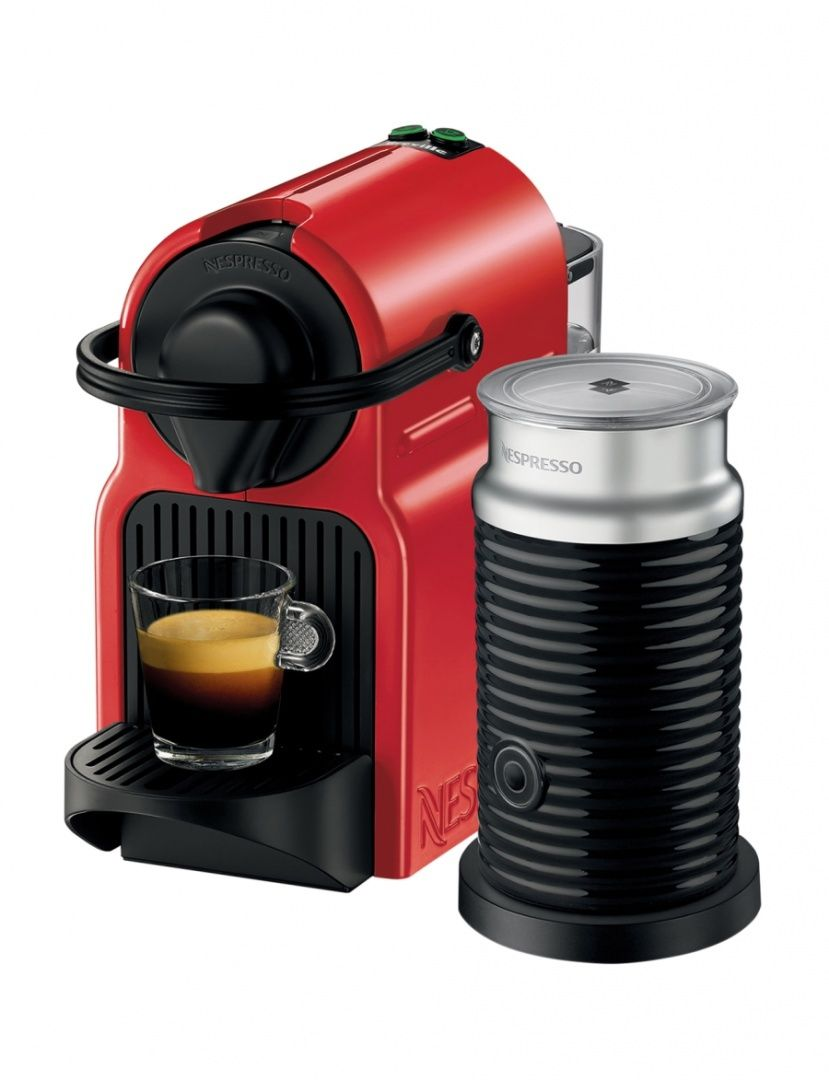 Platinum Capsule Coffee Maker : Nespresso by Breville BEC200XR Inissia Capsule Coffee Maker: Red - Machine Only 9312432022194 eBay