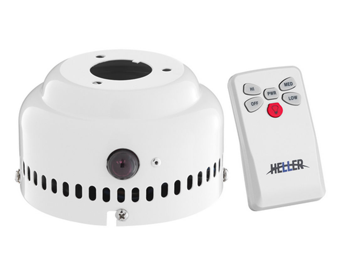 Heller Ceiling Fan With Light And Remote : Heller ceiling fan light and remote control kit white