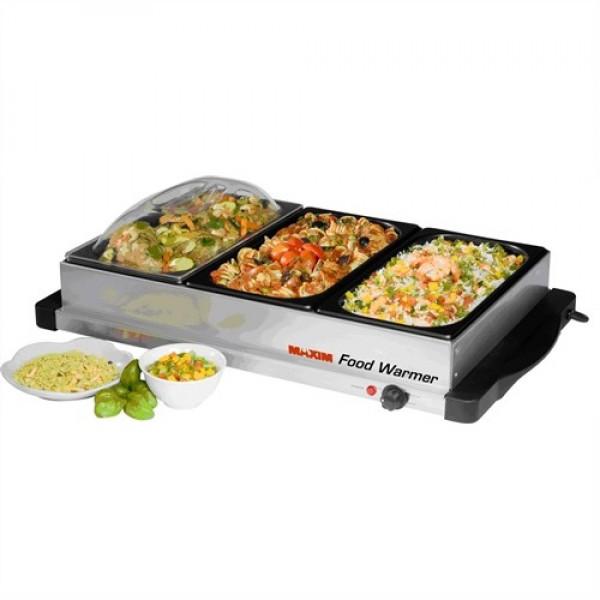 Food Tray Warmer ~ Maxim stainless steel food warmer buffet server just