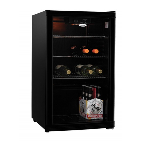 Heller 115l Litre Beverage Cooler Glass Door Bar Fridge