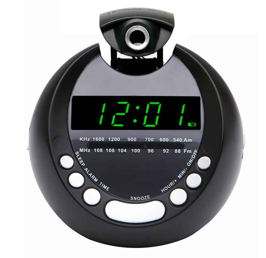 lenoxx projection alarm clock just electrical. Black Bedroom Furniture Sets. Home Design Ideas